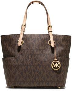MICHAEL Michael Kors Logo-Print Signature Monogram Tote Bag, Brown, Handtaschen - Handbags, bags, clutches, purses, totes, shoulder bags