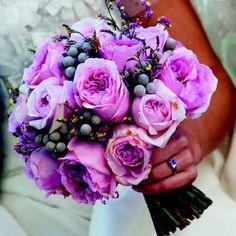 ramo de novia bouquet morado