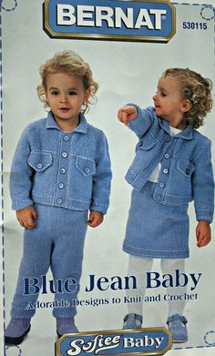 Knitting Patterns Crochet Patterns Blue Jean Baby by elanknits (Craft Supplies & Tools, Patterns & Tutorials, Fiber Arts, Crochet, knitting patterns, crochet patterns, blanket patterns, jean jacket pattern, knit pants pattern, skirt pattern, dress pattern, bolero pattern, knit dress pattern, hoodie pattern, crochet pattern, knitting pattern, sweater patterns)