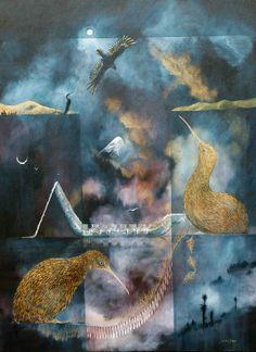 by Robin Slow New Zealand Art, Nz Art, Little River, Maori Art, Indigenous Art, Robin, Paintings, Artists, Illustrations