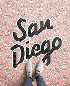 Fauxsaics is a series of typographic mosaic illustrations designed by New York-based designer Nicholas Misani. Pure typography at its best! Typography Letters, Typography Design, Hand Lettering, San Diego, Estilo Tropical, California Dreamin', Design Inspiration, Typography Inspiration, Graphic Design