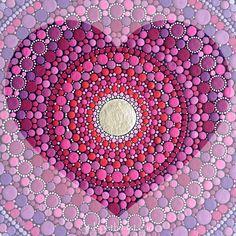 Love mandala by Elspeth McLean #love
