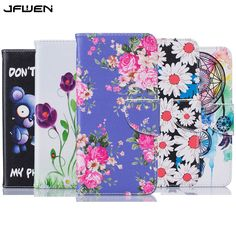 Leather Case For Samsung Galaxy S5 Case Flip Cover Luxury Wallet Flowers Painted Phone Cases For Samsung Galaxy S5 Case Cover #Affiliate