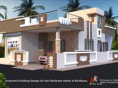 House Rustic Plans One Story Stones 42 New Ideas House Outer Design, House Balcony Design, House Wall Design, Single Floor House Design, Bungalow Haus Design, Village House Design, Small House Floor Plans, Duplex House Design, Home Design Floor Plans