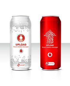 Energy Drink design for Vodafone