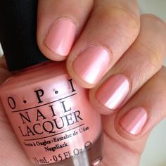 OPI Tutti Frutti Tonga | Summer shade...lovely peachy pink color with a hint of shimmer. It looks even better in person.