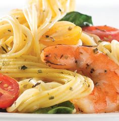 Everybody can enjoy Gluten-Free Pasta and Roasted Shrimp for dinner tonight. Just choose your favorite corn linguine or fettuccine for this recipe that only takes 30 minutes to prepare. It's dairy free too!