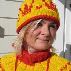 Strikket sett - Happy Knitting AS Knitted Hats, Elsa, Beanie, Knitting, Fashion, Threading, Knit Hats, Moda, Tricot