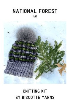 National Forest Hat by Manistee National Forest, Shawnee National Forest, North Cascades National Park, Knitting Kits, Knitting Yarn, Knitting Patterns, Crochet Patterns, Saint Tropez, Arkansas