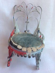 Quirky Tin Can Rocking Chair  folk art  $9.90