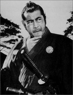 Toshiro Mifune -- the hero in almost every good Samurai film ever made. Toshiro Mifune, Ronin Samurai, Samurai Warrior, Men In Black, Akira, Plakat Design, Fritz Lang, Tatuagem Old School, Japanese Film