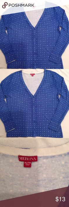 Vneck Cardigan Sweater 6 buttons down front, long sleeve, normal wear. Merona Sweaters Cardigans