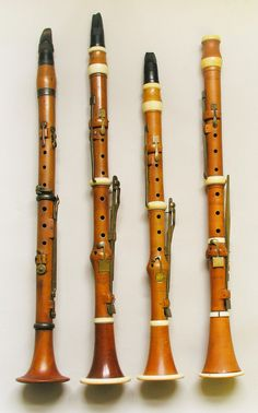 Late 18th century   5 key clarinets