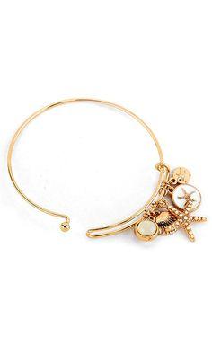 Starfish Charm Bracelet in White