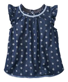 Loving this Chambray Popover & Play Top Toddler & Girls on #zulily! #zulilyfinds