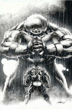 Wolverine vs Juggernaut by Jimbo Salgado