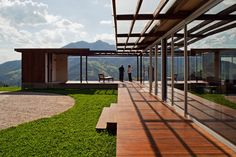"São Francisco Xavier House by Nitsche. A beautiful home in Brazil that ""floats"" upon a ""sea of mountains."""