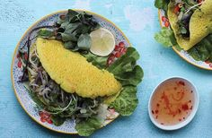 Vietnamese savoury rice pancakes recipe (Banh Xeo) from Nourish magazine Australia.