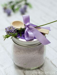 Bath Salts: Lavender Mint – Mason Jar Crafts Love