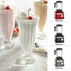 There is nothing more fun than an ice-cream milkshake, made with your Power Plus Blender. So yummy, easy to make and always delicious. What's your favorite dessert drink. Much love from KitchenAid Africa xx. Dessert Drinks, Desserts, Kitchenaid, Milkshake, Africa, Ice Cream, Easy, How To Make, Fun