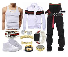 """Devaughn Sixkiller 2"" by k4200mazikapo on Polyvore featuring Rocawear, Givenchy, Gucci, men's fashion and menswear"