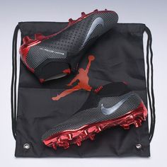 Nike Phantom Vision Elite DF FG Jordan x PSG Black Red football boot is wonderful,this is a wonderful shoe to add to your collection!Nike Phantom Vision Elite DF FG Jordan x PSG Black Red Jordan Cleats, Nike Cleats, Cool Football Boots, Football Shoes, New Soccer Boots, Messi, Neymar, American Football, European Football