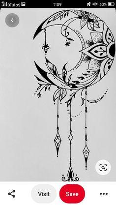Henna Moon, Body Art, Tattoo Ideas, Purse, Ink, Creative, Room, Cards, Design
