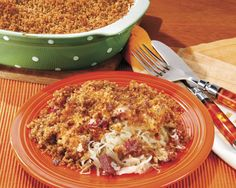Reuben Casserole from Penzeys Spices    I'm going to make this for Mom and Greg.  Not my thing, but I know they will LOVE this!