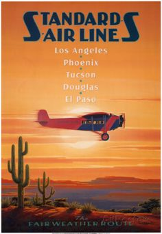 Standard Airlines, El Paso, Texas Prints by Kerne Erickson at AllPosters.com