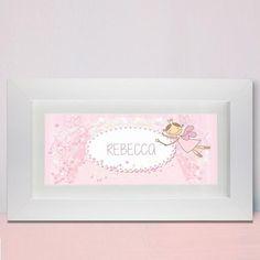 Kids Gift Idea -  Personalised Fairy Letter Name Frame  - Lovely Present Idea for Children or Toddlers. Birthday or Christening gift.