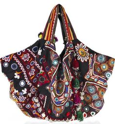 Simone Camille tote made of vintage embroidered fabric