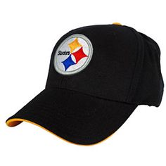 5b25d2acd83 Your kids will love wearing this Pittsburgh Steelers Youth Basic Logo  Adjustable Cap! This hat is all black and features the official Steelers  logo ...