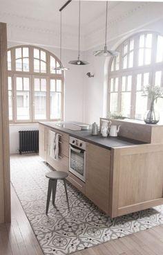 Home Decorating Ideas tile kitchen floor tile color tile pattern gray wood kitchen Kitchen Interior, House, Home, Kitchen Remodel, New Kitchen, House Interior, Home Kitchens, Kitchen Floor Tile, Kitchen Design
