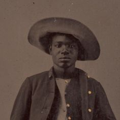 Black History Album BUFFALO SOLDIER A studio portrait of an unidentified African American soldier posing with buffalo hide. ca. 1860-1880. Yale Collection of Western Americana, Beinecke Rare Book and Manuscript Library.  via Black History Album, The Way We Were