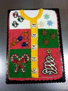 Ugly sweater cake :)