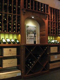 A custom wine cellar from Kessick & Wine racks and cellar design by Kessick Wine Cellars | Wine Cellars ...