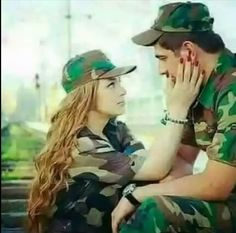 Army Love Quotes, Indian Army Quotes, Military Couples, Military Love, Army Couple Pictures, Couple Photos, Young Couples Photography, Indian Army Special Forces, Indian Army Wallpapers