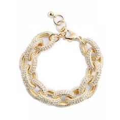 nordstrom • pave link bracelet Used a few times Nordstrom Jewelry Bracelets