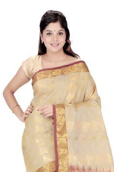 Buy Beautiful #Kanjivaram Silk #Sari @ Rs.2,250.00 And Save Rs.1,125.00 [Original Price: Rs.3,375.00] #SilkSaree #FreeShipping