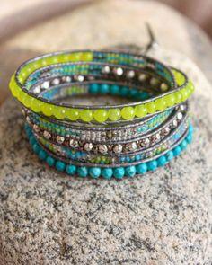 wrap NÉON, boho chic, manchette, bracelet wrap
