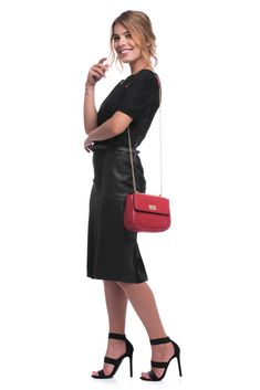 C'iel Umhängetasche 'Lynn' in rot Hermes, Leather Crossbody Bag, Kate Spade, Red, Material, Bags, Inspire, Inspiration, Design