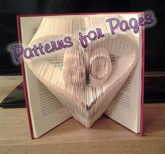 Book folding pattern for 80 IN A HEART by PatternsForPages on Etsy