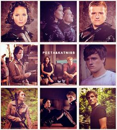 """Book One: The Hunger Games. """" Katniss Everdeen voluntarily takes her younger sister's place in the Hunger Games, a televised fight to the death in which two teenagers from each of the twelve Districts of Panem are chosen at random to compete. """"  Katniss Everdeen and Peeta Mellark."""