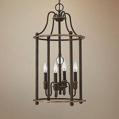"Hinkley Elaine 14"" Wide 4-Light Oiled Bronze Chandelier"