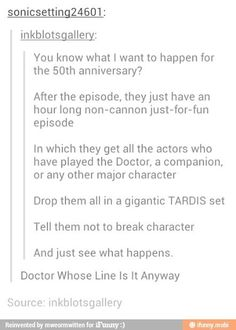 Doctor Whose line is it anyway