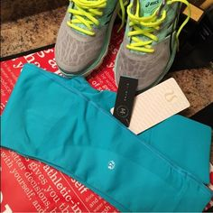 LULULEMON Tiffany blue pants Gorgeous blue lulu workout leggings. These are the crop style not full length. New w tags size 4 fits like a XS. feel free to make a reasonable OFFER  please be mindful of the 20% fees thanks bundle discounts available. I ship ASAP for you  I don't trade!❌no pp❌ lululemon athletica Pants Leggings