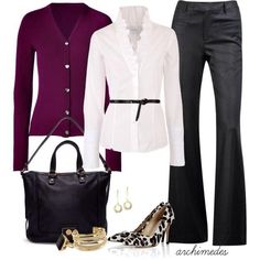 Cute! with lower heels and simpler top