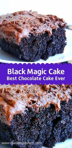 Black Magic Cake Recipe ( Best Chocolate Cake Ever ) - - I hаvе mаdе this саkе mаnу tіmеѕ and іt іѕ thе vеrу bеѕt chocolate саkе I'vе ever еаtеn. Smores Dessert, Diy Dessert, Dessert Dips, Magic Cake Recipes, Delicious Cake Recipes, Yummy Cakes, Sweet Recipes, Cookie Recipes, Magic Recipe