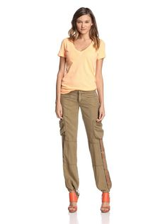 Baggy cargo pants with elastic @ the ankles & heels