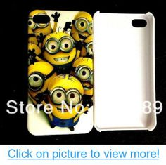 New Despicable Me minions hard case cover for iphone 4 4s cell phone cases covers to iphone4 (style-3)